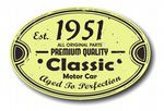 Distressed Aged Established 1951 Aged To Perfection Oval Design For Classic Car External Vinyl Car Sticker 120x80mm